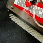 CRB brushpro to agitate carpet to work in prespray to emulsify soils and oils